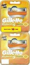 Gillette Fusion5 Power Lames de Rasoir pour Homme - Pack de 10