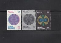 Brazil 1971 Christmas Sc  1207-1209 Complete Mint Never Hinged
