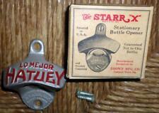 "NOS Vintage Starr X ""Lo Mejor Hatuey"" Metal Bottle Opener w/Box & Screws L5"