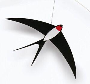 3 FLYING SWALLOWS - FLENSTED HANGING BIRD MOBILE - DANISH MODERN/DENMARK - NEW