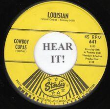 Cowboy Copas HILLBILLY 45 (Starday 641) Louisian/Break Away, Break Away VG+