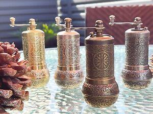 Handmade Turkish Coffee Salt Pepper Spice Grinder Mill 4.2 inch