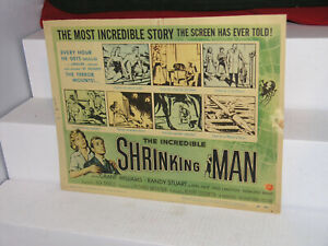 VINTAGE The Incredible Shrinking Man  original lobby card #1 1957 TITLE CARD