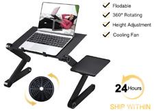 Adjustable Aluminum Laptop Desk Ergonomic Portable TV Bed Lapdesk Tray PC Table