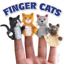 4 lot Finger Cats Puppets Vinyl -  Novelty Fun Gag Gifts