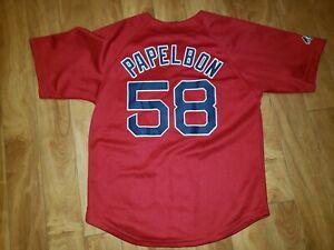 Majestic Boston Red Sox  # 58 Jonathan Papelbon Youth medium Red Jersey
