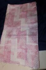 Vintage Cotton Fabric-PINK FLORAL/ LACE PRINT-Jellybean Junction one yard