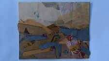 "Original collage by Russian artist Yuliya Makarova  ""Up in the mountains"""