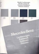 1982 MERCEDES BENZ PAINT COLOUR GUIDE Standard Special & Metallic