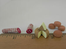Nativity Village Market Accessory Dollhouse Miniature Cheese Salami Bread Food