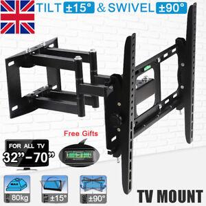 "Samsung LG 32-70"" Inch TV Wall Bracket Mount - Tilt and Swivel with Spirit Level"