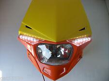 Ufo Ktm Orange Road Legal Headlight Enduro Sx Exc Xcf Sxf Lc4 Egs Rmz Smr Drz Dr