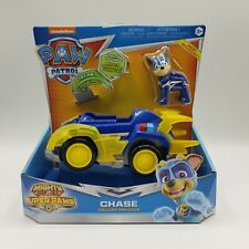 Paw Patrol Mighty Pup Chase Figure With Deluxe Vehicle Lights And Sounds New