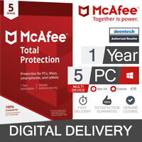 McAfee Total Protection 2020 (5 User) Multi-Device PC/Mac Genuine License Key