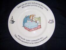 Vnt Wedgwood & Barlaston England Peter Rabbit Childs China Plate 6-7/8 Easter