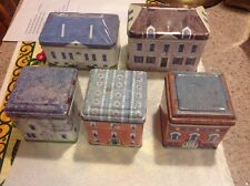 Set Of 5 National Trust Made In England Collectible Tins