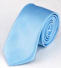 Fashion Casual Men's Solid Color Tie Slim Thin Neck Simple Wedding Party Necktie