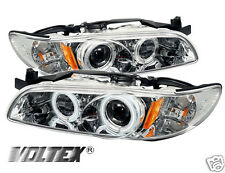 1997-2003 PONTIAC GRAND PRIX CCFL PROJECTOR HEADLIGHTS LIGHTBAR LIGHT CHROME