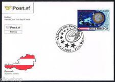 AUSTRIA 1 BUSTA PRIMO GIORNO FDC EURO 2002