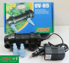 CE JEBO UV 9W Sterilizer Lamp Light Water Cleaner For Coral Koi Fish Pond Filter