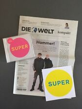 NEU Pet Shop Boys CD SUPER +Promo Sticker Die Welt Zeitung Interview Petshopboys