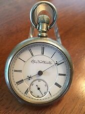1893 Elgin 18s  B.W. Raymond 15j True Railroad Grade Pocket Watch Fahys Case