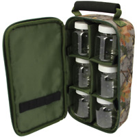 Dipbag camouflage inkl. 6 Dip-Dosen für Dips, Pop Ups, Boilie PVA Flavour NGT