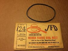 NOS Antique JFD Fabric Radio Dial Belt Number 124 GUARANTEED for Westinghouse