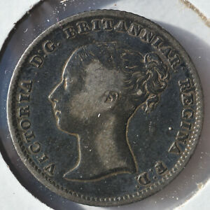 1840 Queen Victoria Groat Great Britain Silver 4 Pence Fourpence England Coin