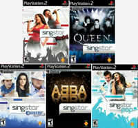 5 New Sealed Singstar Games - Rocks, Pop, Queen, Abba & Country - PS2
