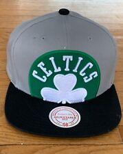 Boston Celtics Mitchell & Ness Gray Cropped Split Heather Snapback Hat BRAND NEW