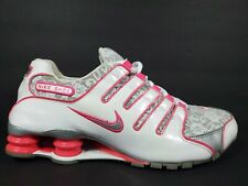 Nike Shox NZ Womens Size 9.5 Shoes White Lace Pink Flash Silver TL 311137 105
