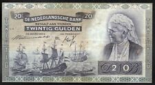 PAYS BAS ; 20 Gulden ; EMMA ; AMSTERDAM le 28 Décembre 1940 ; Pick#53  / L154