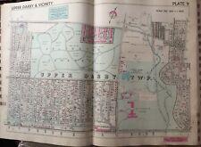 1942 Delaware Co. Pa. Upper Darby High School Arlington Cemetery Atlas Map
