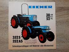 Original Eicher Prospekt Traktor 352 S AS