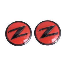 2003-2009 Fairlady Z33 350Z L/R Side Fender Pair Mounted Z Logo Emblem Red&Black