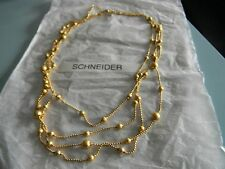 Premier Designs STARDUST gold bead glitter 4 strand necklace RV $31 FREE ship