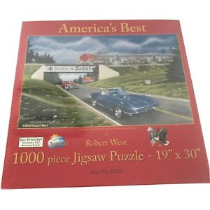 "SUNSOUT Jigsaw Puzzle 1000 Piece ""AMERICA'S BEST"" by Robert West 19 x 30 - NEW"