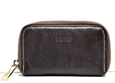 Yanko Vintage Womens Small Leather Wallet Purse Zip Closure Brown
