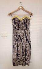 SHEIKE Geometric Print Strapless Dress - Size 8