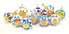 set of 10 blue & white floral ceramic cupboard cabinet knobs drawer pulls