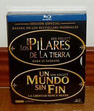 LOS PILARES DE LA TIERRA-UN MUNDO SIN FIN-6 BLU-RAY-NUEVO PRECINTADO-NEW-SEALED