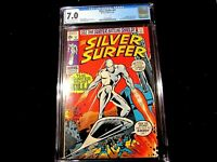 Silver Surfer #v1 #17 - CGC 7.0 Lee & Buscema Classic! Mephisto, Nick Fury!