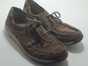 Skechers Mens Brown Bafefoot Casual Shoes. Tie. Size 8M