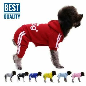 Pet Dog Clothes Puppy Coat Sports Hoodies Warm Sweater Jacket Clothing 4 Legs