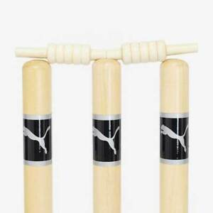 Puma Match Quality Wooden Cricket Stumps Including Carry Case
