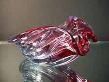 Scarce Seguso Glass Vintage Shell Candy Dish Purple & Sky Blue Murano Eames Era