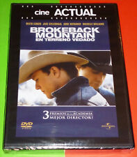 BROKEBACK MOUNTAIN En terreno vedado - English Español DVD R2 Precintada