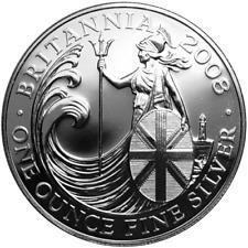 1 OZ Silver Britannia 2008 1 Unze Silber