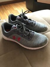 Under Armor Shoes Grey Red White Mens 9.5